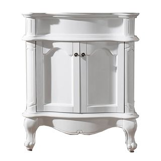 Virtu Virtu Usa Norhaven 30 inch White Bathroom Cabinet White Size Single Vanities