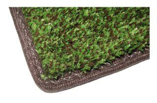 "Indoor / Outdoor Turf Rug   8'x12'   GREEN&BROWN MULTI   Artificial Grass with Premium BOUND Nylon Edges. A Quality Dense Turf of 20 Oz. with a 3/8"" Pile Height, 100% UV Olefin and a Classic Back backing. Many Custom Sizes & Shapes Ava"