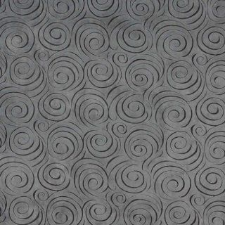 """54"""" D832 Grey, Abstract Swirl Microfiber Upholstery Fabric By The Yard"""