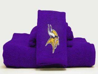 Minnesota Vikings NFL 3 Piece Embroidered Bath Towel Set