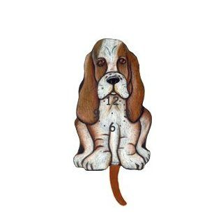 Dog Breed Pendulum Clock   Basset Hound   Wall Clocks