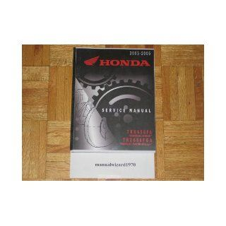 2003 2004 2005 Honda Rincon 650 TRX650FA TRX650 TRX FourTrax GPScape Service Manual Paper Part# 61HN802 Books