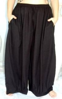 BLACK PANT WIDE LEG POCKET   FITS   2X 3X 4X   K894 LOTUSTRADERS World Apparel Clothing