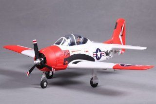 FMS 800mm T 28 Trojan V2 RC Airplane Premium RTF Durable EPO Foam   Red: Toys & Games
