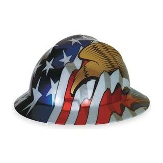 Hard Hat, FullBrim, US Flag w/ 2 Eagles   Hardhats