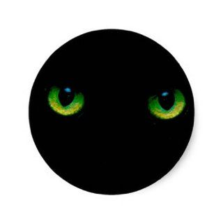 Black Panther Eyes Round Stickers: Toys & Games