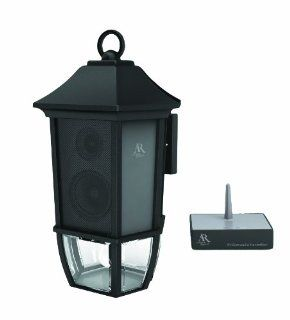 Audiovox Acoustic Research AW851 Main Street Style Lamp with Outdoor Wireless Speaker (Black) (Discontinued by Manufacturer) Electronics