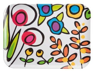 Zak Designs Wild Flora 16 by 12 Inch Melamine Tray: Kitchen & Dining