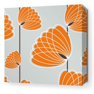 Inhabit Aequorea Lotus Graphic Art on Canvas in Silver and Sunshine LOTSLOSW