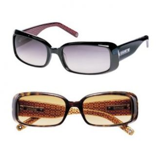 6ffa841497a ... Coach Megan Womens Sunglasses Black with Gradient Lens S427  Clothing  ...