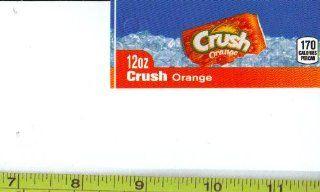 Magnum, Small Rectangle Size Orange Crush CAN Soda Vending Machine Flavor Strip, Label Card, Not a Sticker