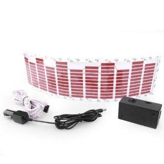 17.91 x 4.65 Inch Car Music Rhythm Lamp Rythme Light Led Sound Control Flashing Red Color Brand New Set: Automotive