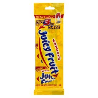 Wrigleys Juicy Fruit Gum 3 Packs 15 pc