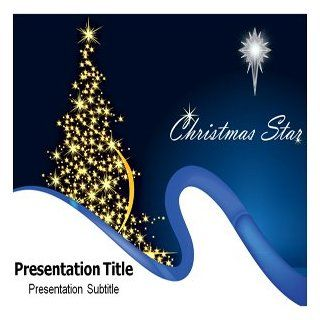 Christmas Star PowerPoint Template   Christmas Star PowerPoint (PPT) Templates Software