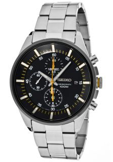 Seiko SNDC85  Watches,Mens Black Dial Stainless Steel, Chronograph Seiko Quartz Watches