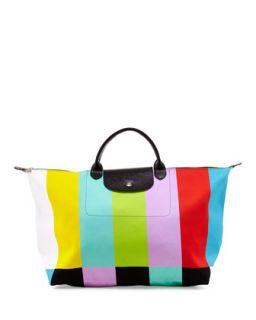 Le Pliage Color Bar Canvas Travel Bag   Longchamp