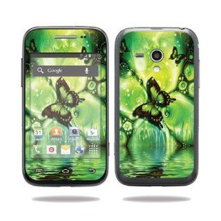 MightySkins Protective Vinyl Skin Decal Cover for Samsung Galaxy Rush Cell Phone M830 Boost Mobile Sticker Skins Mystical Butterfly: Computers & Accessories