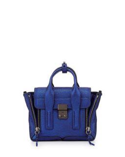 Pashli Mini Metallic Satchel Bag, Electric Blue   3.1 Phillip Lim