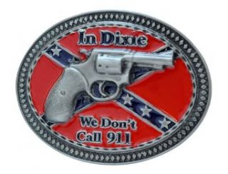 Buckle Rage Dixie 911 Gun Belt Buckle Southern Pride Confederate Rebel Red One Size: Clothing