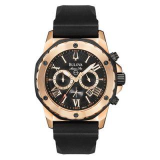 men s bulova marine star black watch model 98b104 $ 450 00 25 % off