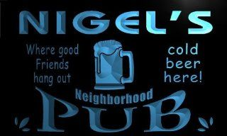 pg914 b Nigel's Neighborhood Home Bar Pub Beer Neon Light Sign   Business And Store Signs