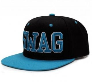 City Hunter Cf918t Swag Snapback cap   Black/turquoise at  Men�s Clothing store