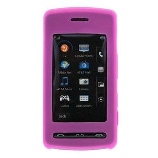 LG Vu Rubber Silicone Case Skin Cover Pink CU 920 CU920: Cell Phones & Accessories