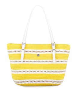 Jav Squishee Tote Bag, Yellow Mix   Eric Javits