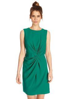 Oasis Twist knot crepe dress Green
