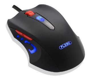 PLEMO Black Mamba 6 Button PC Computer Optical USB Wired Gaming Mouse, 3 Adjustable DPI Levels Up to 2400 [Model Number DS 901] Computers & Accessories