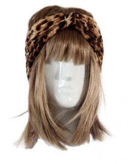 Lookbookstore Women Gathered Knot Pleated Rib Wide Turban Headband Hair Bands, Leopard: Beauty
