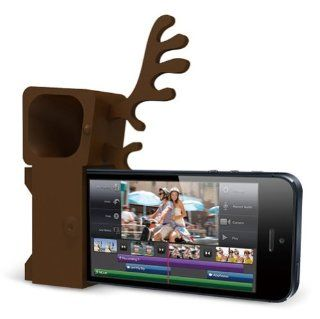 Ozaki OM936DA Zoo Deer Stand and Amplifier for iPhone 5   Carrier Packaging   Brown: Cell Phones & Accessories
