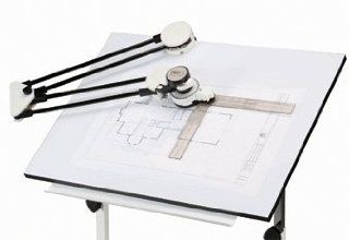 Harbor Freight Tools Drafting Machine   1/2'' Steel Tubing Protractor Arms   Construction Protractors