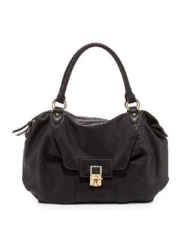 Daniela Turn Lock Satchel Bag, Black   V Couture by Kooba