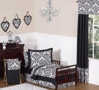 Black and White Isabella Girls Toddler Bedding 5pc Set by Sweet Jojo Designs  Baby