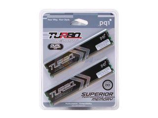 PQI TURBO 2GB (2 x 1GB) 184 Pin DDR SDRAM DDR 400 (PC 3200) Dual Channel Kit Desktop Memory Model PQI3200 2048DBL