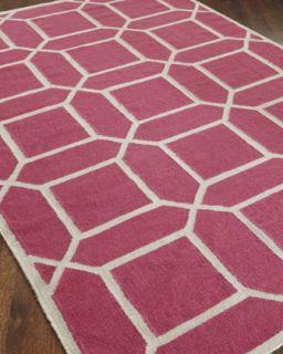 Octagonal Maze Flatweave Rug, 116 x 146   Exquisite Rugs