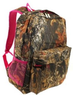 Children's and Teen's School Backpack with Side Pocket 916 (Mossy Oak Pink): Clothing