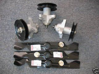 "MTD Cub Cadet Spindle 618 04126 / 918 04126A (Set of 3 & 50"" Blades) : Lawn Mower Handle Parts : Patio, Lawn & Garden"
