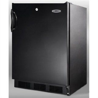 Summit Commercial Series: FF7LBLADAx 5.5 cu. ft. Compact Refrigerator with Adjustable Glass Shelves, Door Lock, ADA Compliant, Deep Shelf Space, Interior Light, Hidden Evaporator and Commercially Approved: Appliances