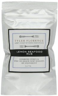Tyler Florence West Coast Kitchen Essentials Meyer Lemon Seafood Rub, 4 Ounce Pouches (Pack of 6) : Seafood Seasonings : Grocery & Gourmet Food