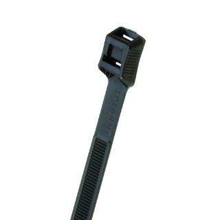 "Panduit IT965 C0 In Line Cable Tie, Weather Resistant Nylon 6.6, UV Black, 124 Min Tensile Strength, 2.56"" Max Bundle Diameter, 0.065"" Thickness, 0.350"" Width, 10.1"" Length (Pack of 100) Industrial & Scientific"