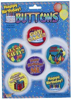 Forum Novelties Happy Birthday Buttons, Set of 6 Toys & Games