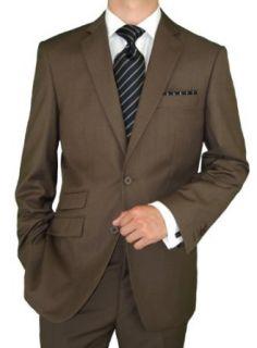 Bianco Brioni Men's Brown Two Button Ticket Pocket Suit (36 Regular US) at  Men�s Clothing store Business Suit Pants Sets