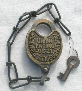 Solid Brass Union Pacific Railroad Roadway + Bridge Padlock CS 21  Other Products