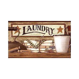 Country Laundry Wallpaper Border