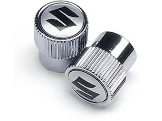 Suzuki 'S' Logo Chrome Valve Stems 990A0 19069: Automotive