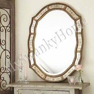 Shop Shaped Victorian Venetian Etched Frameless Wall Mirror Antique at the  Home D�cor Store