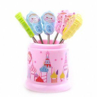 eFashion The Fashion Creative Cute Cartoon Fruit Fork (8 pcs)   blessing: Kitchen & Dining