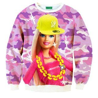 Barbie doll 3D Hoodies Pullovers sweaters Galaxy sweatshirts Women/Men (S)  Martial Arts Uniforms  Sports & Outdoors